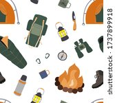camping and hiking vector... | Shutterstock .eps vector #1737899918