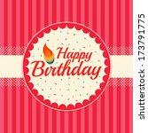 cake birthday card   Shutterstock .eps vector #173791775