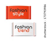 Fashion style and Fashion trend clothing labels. Vector.