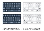 phone keyboard mockup  qwerty...