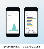 data dashboard template with... | Shutterstock .eps vector #1737996155