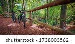 Two Mountain Bikes Propped On ...