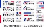 set of made in france logotype...   Shutterstock .eps vector #1738030928