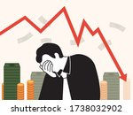 graph of stock price drop. and... | Shutterstock .eps vector #1738032902