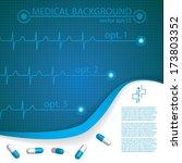 abstract medical cardiology ekg ... | Shutterstock .eps vector #173803352
