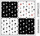 Dots  Peas Background. Set....