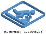 blue isometric illustration of... | Shutterstock .eps vector #1738045235
