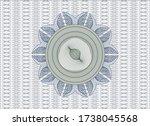 blue and green passport style... | Shutterstock .eps vector #1738045568
