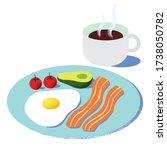 wholesome breakfast vector... | Shutterstock .eps vector #1738050782