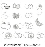 collection of fruit...   Shutterstock .eps vector #1738056902