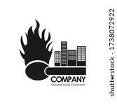 danger logo. becareful. watch... | Shutterstock .eps vector #1738072922