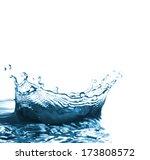 water splash on white... | Shutterstock . vector #173808572