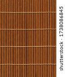 Asian Brown Bamboo Mat Texture...