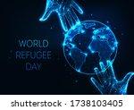 world refugee day web banner... | Shutterstock .eps vector #1738103405