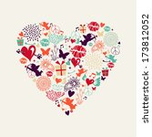 colorful valentines day... | Shutterstock .eps vector #173812052