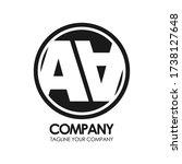 letter double a logo design. | Shutterstock .eps vector #1738127648