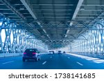 Cars Go Over The Road Bridge....
