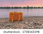 Colorful Orange Bag On The...