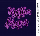 together forever neon sign with ... | Shutterstock .eps vector #1738169075