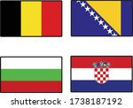 1st country is albania. 2nd... | Shutterstock .eps vector #1738187192