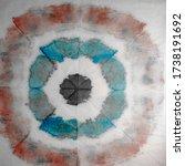 Blue Spiral Art. Dirty Stripe...