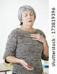 breathlessness | Shutterstock . vector #173819396