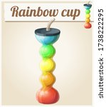 rainbow ice cup frozen drink... | Shutterstock . vector #1738222295
