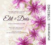 wedding invitation card | Shutterstock .eps vector #173822402