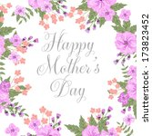 happy mothers day card design.... | Shutterstock .eps vector #173823452