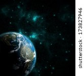 view on the earth from space... | Shutterstock . vector #173827946