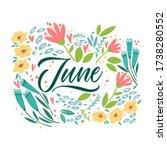 June   Hand Drawn Vector...