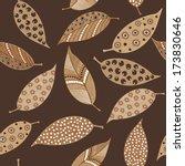 seamless pattern of handmade... | Shutterstock . vector #173830646