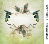 vintage background with feathers   Shutterstock . vector #173832326