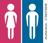 girls and boys restroom sign....   Shutterstock .eps vector #1738370048