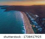 Pearl Beach Sunset Nsw Drone