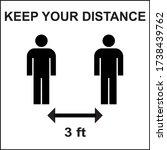 social distancing keep your... | Shutterstock .eps vector #1738439762