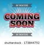 coming soon print poster. eps10 ... | Shutterstock .eps vector #173844752