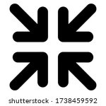 exit full screen icon vector...   Shutterstock .eps vector #1738459592