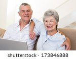 portrait of senior couple with... | Shutterstock . vector #173846888