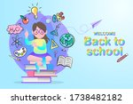 online education concept....   Shutterstock .eps vector #1738482182
