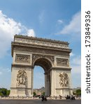 arc de triomphe in paris | Shutterstock . vector #173849336