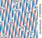 seamless pattern of white  dark ... | Shutterstock .eps vector #173850026