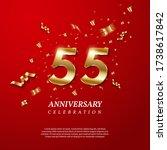 55th anniversary celebration.... | Shutterstock .eps vector #1738617842