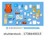 emergency evacuation goods...   Shutterstock .eps vector #1738640015