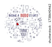 doodle blood donation thank you ... | Shutterstock .eps vector #1738640462
