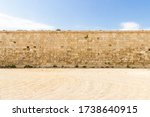 Nice Old Stone Wall In A Deser...