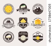 set of cheese vintage badges...   Shutterstock .eps vector #1738647305
