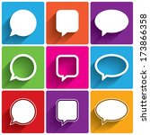 speech bubble icons. think... | Shutterstock . vector #173866358