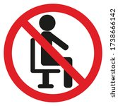 no sign to sit in this area... | Shutterstock .eps vector #1738666142