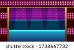 vector illustration of a night... | Shutterstock .eps vector #1738667732